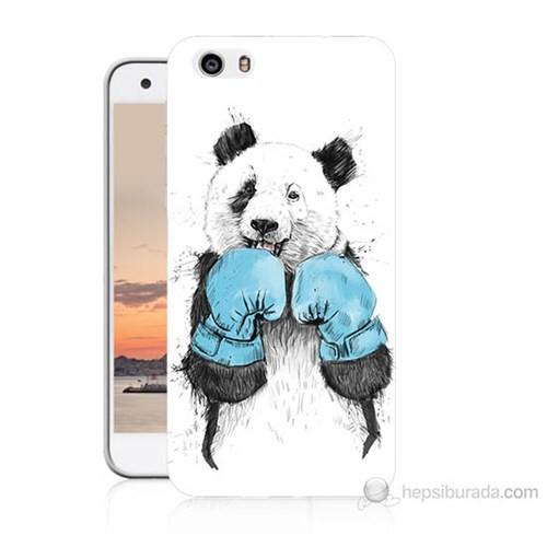 Teknomeg Vestel Venüs V3 5570 Boksör Panda Baskılı Silikon Kılıf
