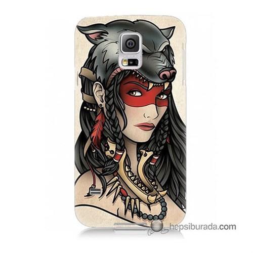 Teknomeg Samsung Galaxy S5 Mini Kapak Kılıf Pocahontas Baskılı Silikon