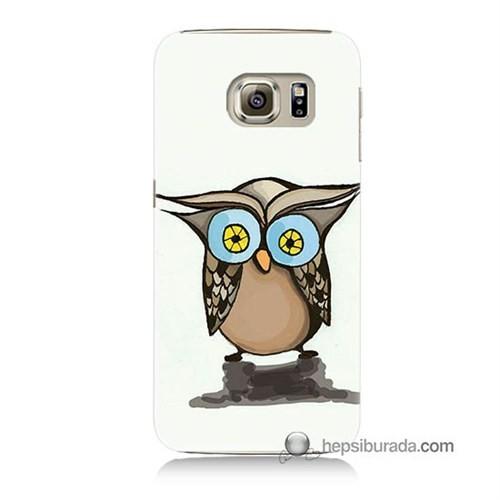 Teknomeg Samsung Galaxy S6 Kapak Kılıf Baykuş Baskılı Silikon