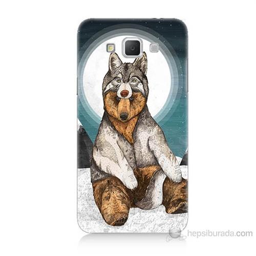Teknomeg Samsung Galaxy Grand Max Postlu Ayı Baskılı Silikon Kılıf
