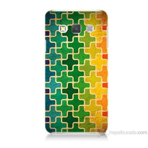 Teknomeg Samsung Galaxy A5 Renkli Artı Baskılı Silikon Kılıf