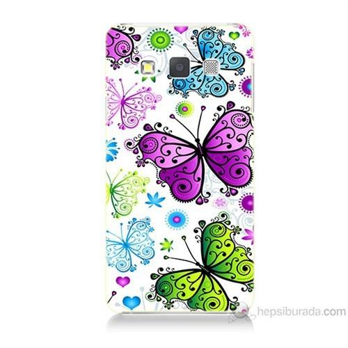 Teknomeg Samsung Galaxy A5 Renkli Kelebekler Baskılı Silikon Kılıf