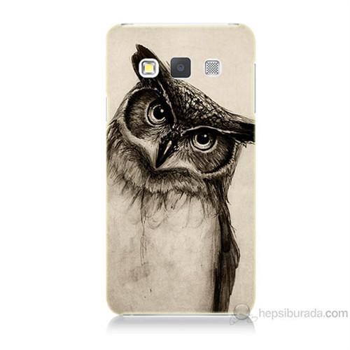 Teknomeg Samsung Galaxy A5 Düşünen Baykuş Baskılı Silikon Kılıf