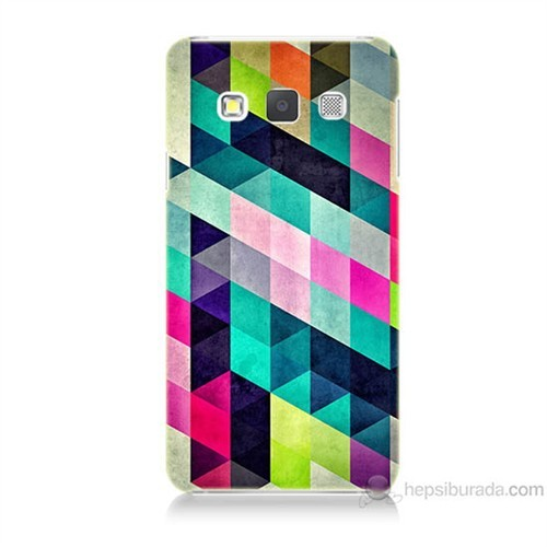 Teknomeg Samsung Galaxy A5 Mozaikler Baskılı Silikon Kılıf