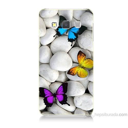 Teknomeg Samsung Galaxy A5 Kelebekler Baskılı Silikon Kılıf