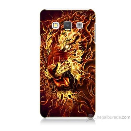 Teknomeg Samsung Galaxy A5 Ateşli Aslan Baskılı Silikon Kılıf