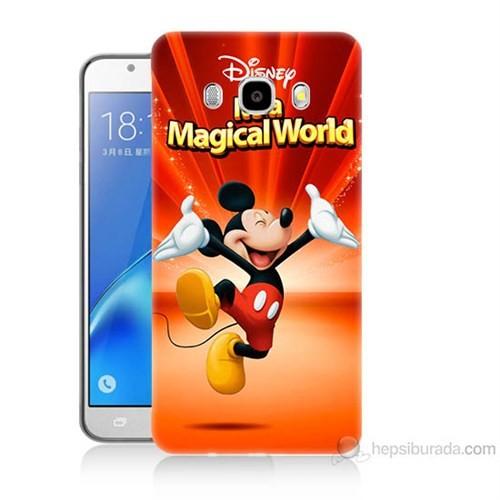 Teknomeg Samsung Galaxy J5 2016 Kapak Kılıf Mickey Baskılı Silikon