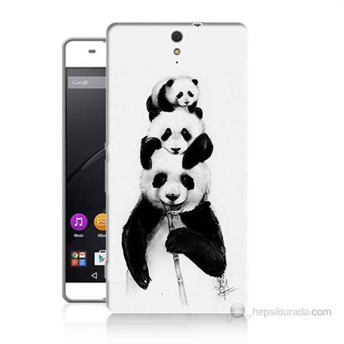 Teknomeg Sony Xperia C5 Panda Ailesi Baskılı Silikon Kılıf