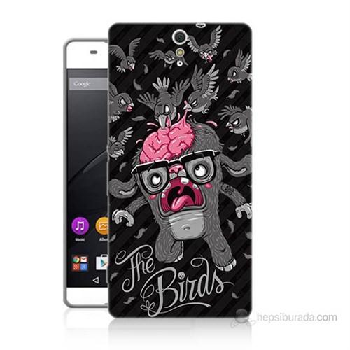 Teknomeg Sony Xperia C5 The Birds Baskılı Silikon Kılıf