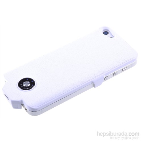 Qapaq İphone 5/5S Şarjlı Kapak Beyazuz244434003970