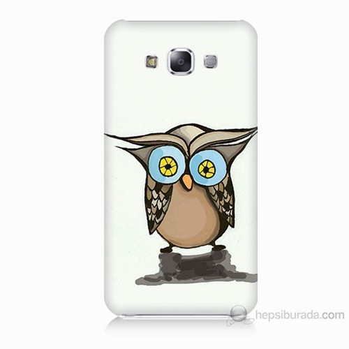 Teknomeg Samsung Galaxy E7 Baykuş Baskılı Silikon Kılıf
