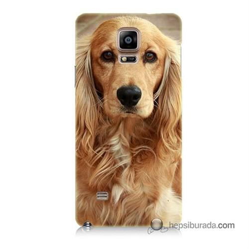 Teknomeg Samsung Galaxy Note 4 Kapak Kılıf Köpek Baskılı Silikon