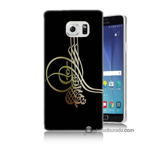 Teknomeg Samsung Galaxy Note 5 Kılıf Kapak Tuğra Osmanlı Baskılı Silikon