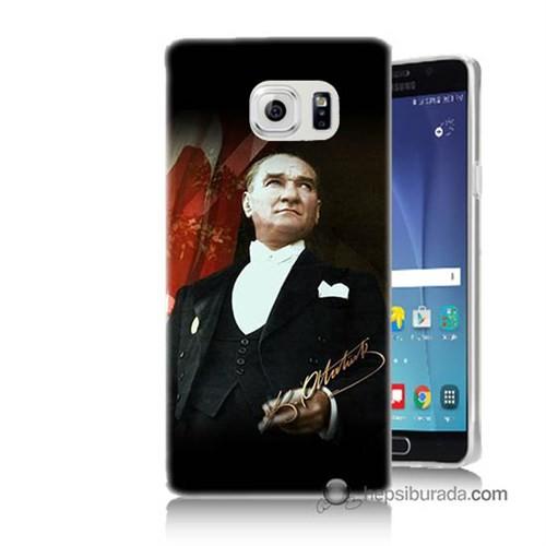 Teknomeg Samsung Galaxy Note 5 Kapak Kılıf M.K.Atatürk Baskılı Silikon