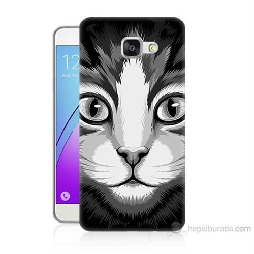 Teknomeg Samsung Galaxy A7 2016 Kapak Kılıf Kedicik Baskılı Silikon