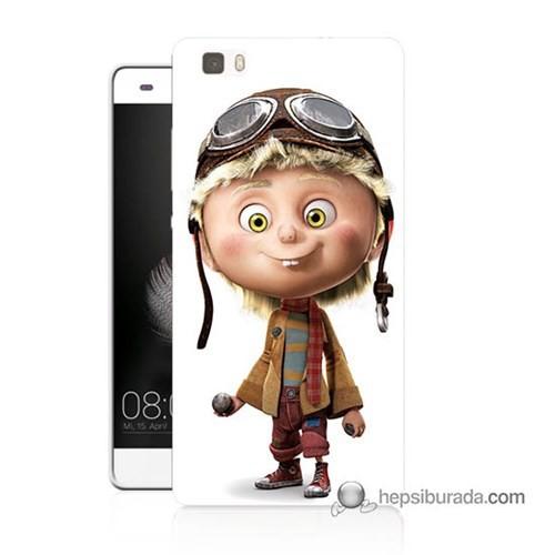 Teknomeg Huawei P8 Lite Kılıf Kapak Çizgi Karakter Baskılı Silikon
