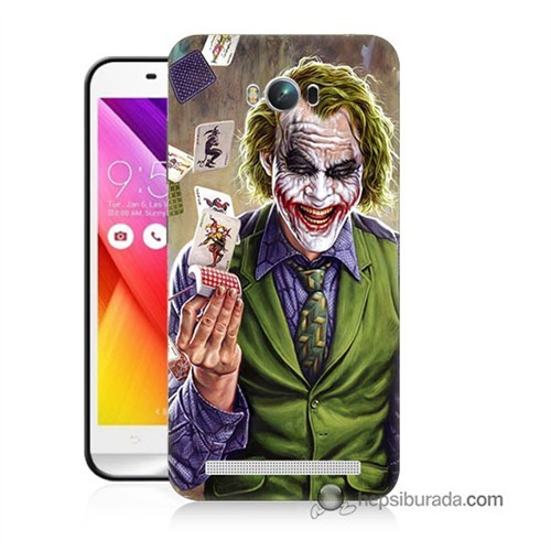 Teknomeg Asus Zenfone Max Kılıf Kapak Kartlı Joker Baskılı Silikon