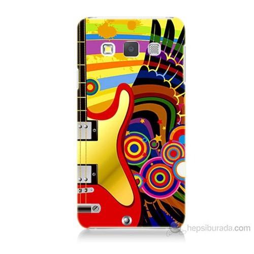 Teknomeg Samsung Galaxy A3 Kapak Kılıf Renkli Gitar Baskılı Silikon