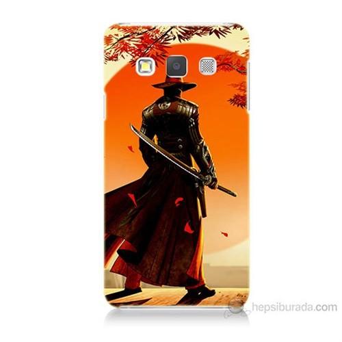 Teknomeg Samsung Galaxy A5 Kapak Kılıf Red Steel Baskılı Silikon
