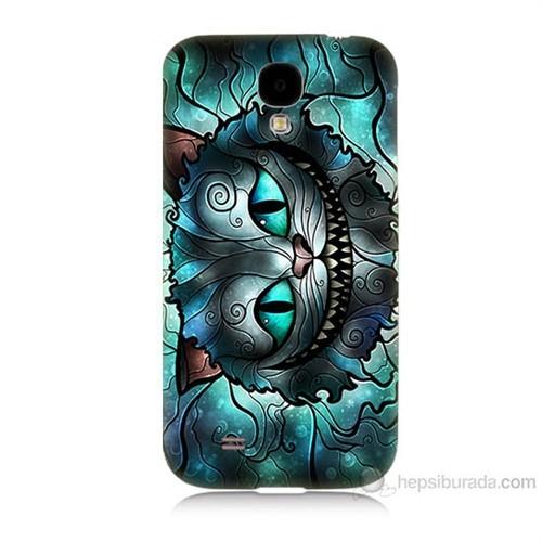 Teknomeg Samsung Galaxy S4 Alice Kedi Baskılı Silikon Kılıf