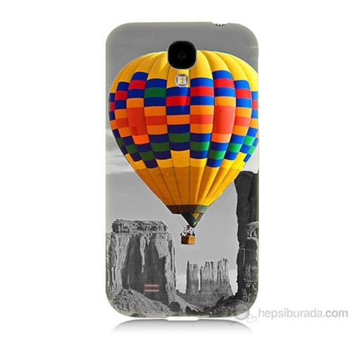 Teknomeg Samsung Galaxy S4 Renkli Uçan Balon Baskılı Silikon Kılıf