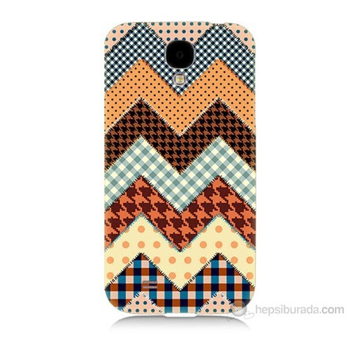 Teknomeg Samsung Galaxy S4 Patchwork Baskılı Silikon Kılıf