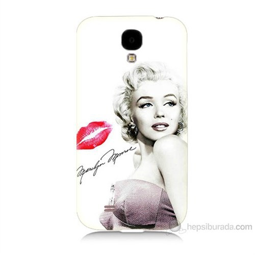 Teknomeg Samsung Galaxy S4 Marilyn Monroe Baskılı Silikon Kılıf