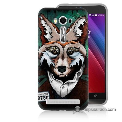 Teknomeg Asus Zenfone Laser 5.0 Kılıf Kapak Bad Wolf Baskılı Silikon