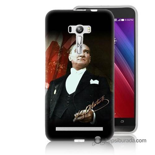 Teknomeg Asus Zenfone Selfie Kapak Kılıf M.K.Atatürk Baskılı Silikon