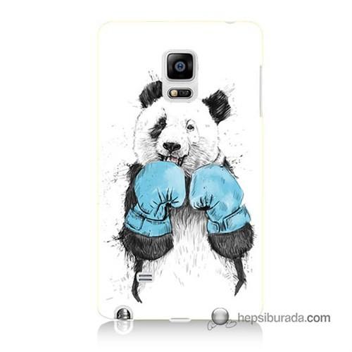 Teknomeg Samsung Galaxy Note Edge Kılıf Kapak Boksör Panda Baskılı Silikon