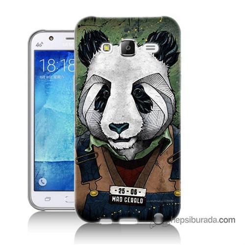 Teknomeg Samsung Galaxy J5 Kapak Kılıf İşçi Panda Baskılı Silikon