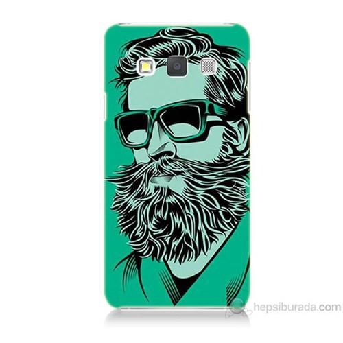 Teknomeg Samsung Galaxy A3 Beard Art Baskılı Silikon Kılıf