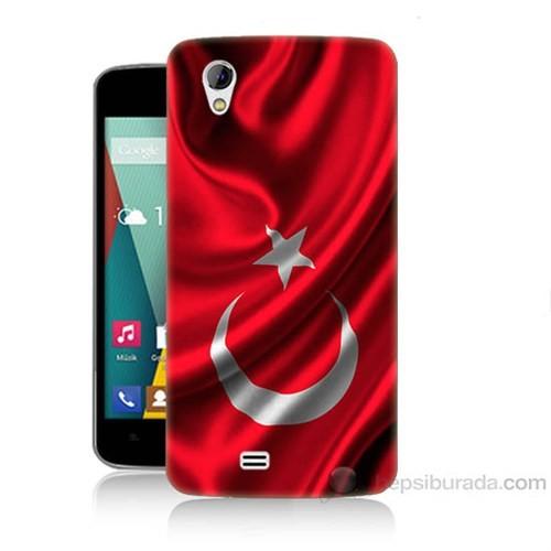 Teknomeg General Mobile Discovery 2 Mini Türkiye Bayrağı Baskılı Silikon Kapak Kılıf