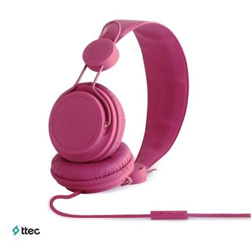 Ttec Bubbles Mikrofonlu Kulaküstü Kulaklık Pembe 2KM8003