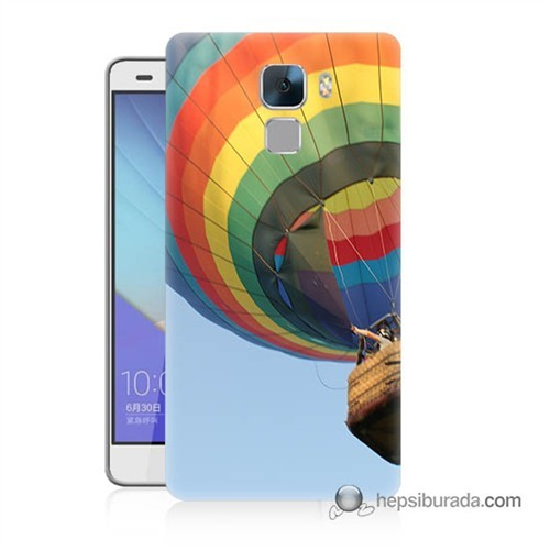 Teknomeg Huawei Honor 7 Kapak Kılıf Uçan Balon Baskılı Silikon