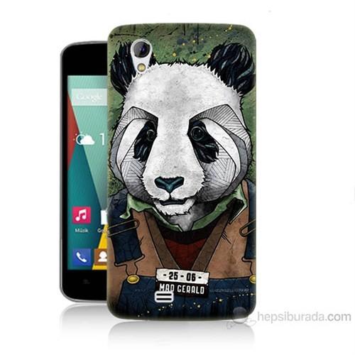 Teknomeg General Mobile Discovery 2 Mini İşçi Panda Baskılı Silikon Kılıf