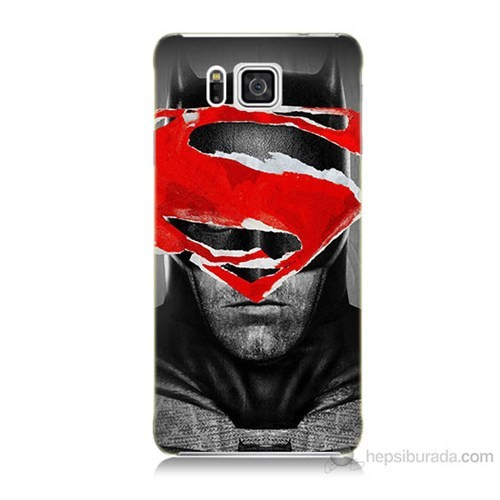 Teknomeg Samsung Galaxy Alpha G850 Batman Vs Superman Baskılı Silikon Kılıf