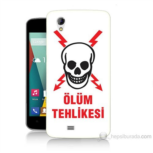 Teknomeg General Mobile Discovery 2 Mini Ölüm Tehlikesi Baskılı Silikon Kılıf