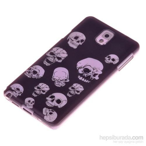 Qapak Samsung Note 3 Kabartma Desenli İnce Arka Kapak uz244434009527