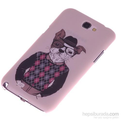 Qapak Samsung Note 2 Kabartma Desenli İnce Arka Kapak uz244434009535