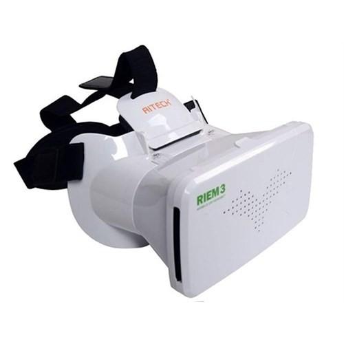 """Calibrex Riem 3 Vr 6"""" Google Cardboard Plastik Sanal Gerçeklik Gözlüğü Beyaz"""