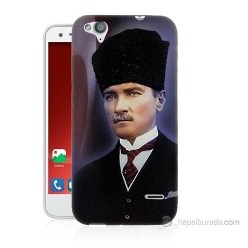 Teknomeg Turkcell T60 Mustafa Kemal Atatürk Baskılı Silikon Kılıf
