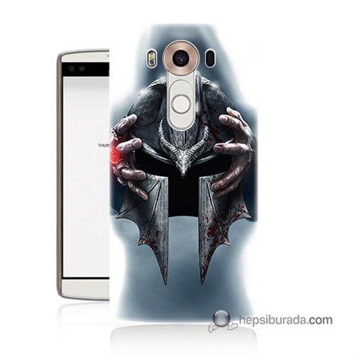 Teknomeg Lg V10 Kılıf Kapak Assassins Creed Baskılı Silikon