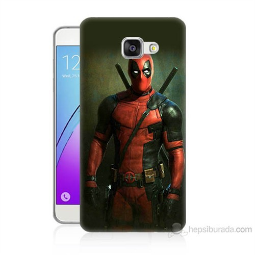 Teknomeg Samsung Galaxy A3 2016 Kapak Kılıf Deadpool Baskılı Silikon