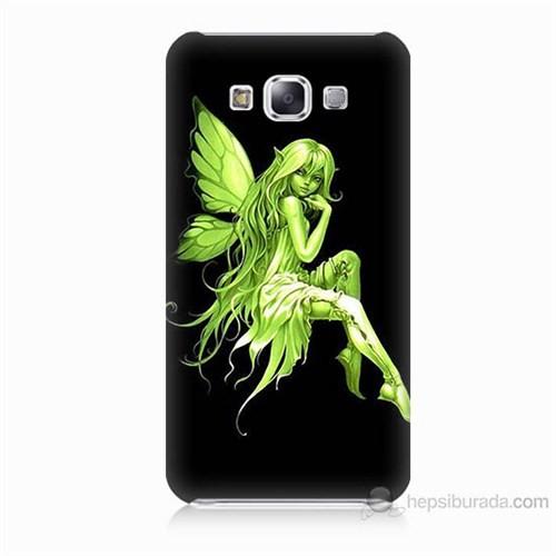 Teknomeg Samsung Galaxy E7 Peri Kızı Baskılı Silikon Kılıf