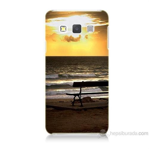 Teknomeg Samsung Galaxy A7 Gün Batımı Baskılı Silikon Kılıf