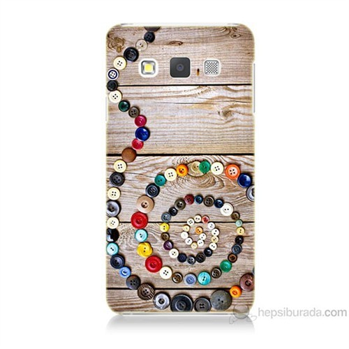 Teknomeg Samsung Galaxy A7 Düğmeler Baskılı Silikon Kılıf