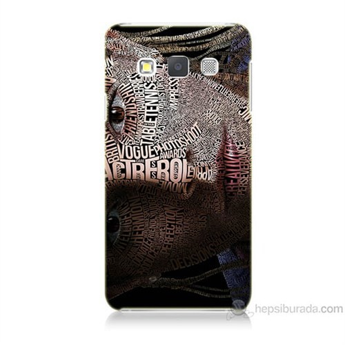 Teknomeg Samsung Galaxy A7 Yazılı Kadın Baskılı Silikon Kılıf