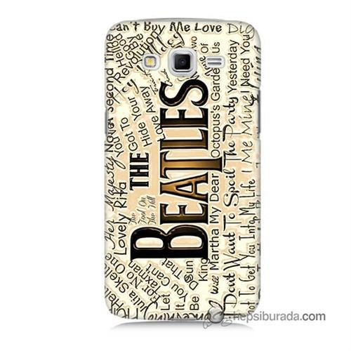 Teknomeg Samsung Galaxy Grand 2 Kılıf Kapak The Beatles Baskılı Silikon