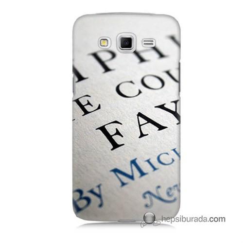 Teknomeg Samsung Galaxy Grand 2 Kapak Kılıf Yazılar Baskılı Silikon